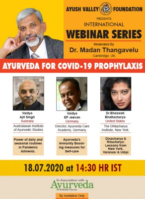 Webinar on 'Ayurveda for Covid-19 prophylaxis'