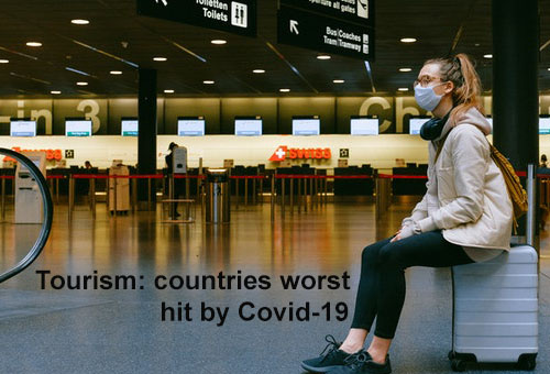 Tourism: countries worst hit by Covid-19