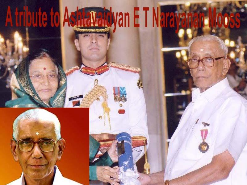 E T Narayanan Mooss, the man behind modernization of Ayurveda medicines
