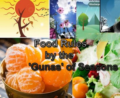 Food Rules by the Gunas of Seasons