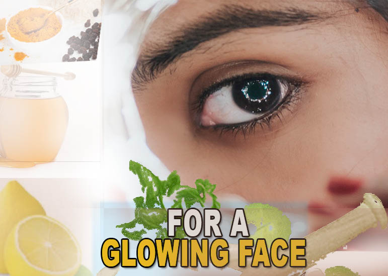 For a glowing face