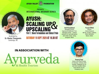 Webinar on 'AYUSH: Scaling up & Upscaling'