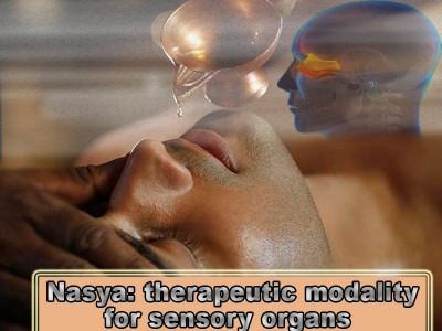 Nasya: the therapeutic modality for sensory organs