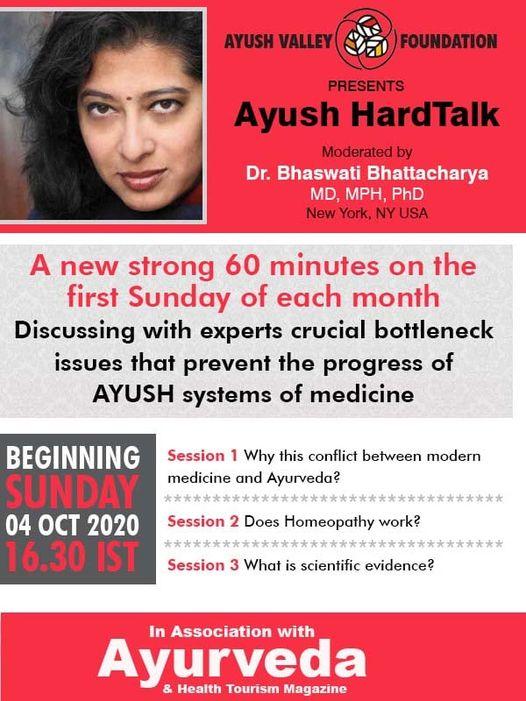 Ayush Hard Talk series from Oct 4