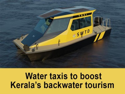 Water taxis to boost Kerala's backwater tourism
