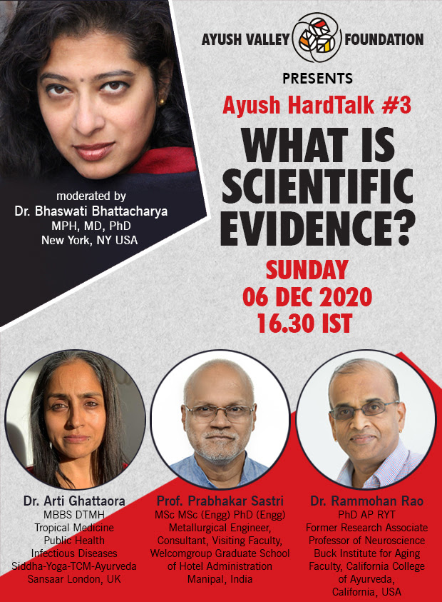 Ayush Hard Talk: Scientific Evidence, what it means?