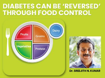 DIABETES CAN BE 'REVERSED' THROUGH FOOD CONTROL
