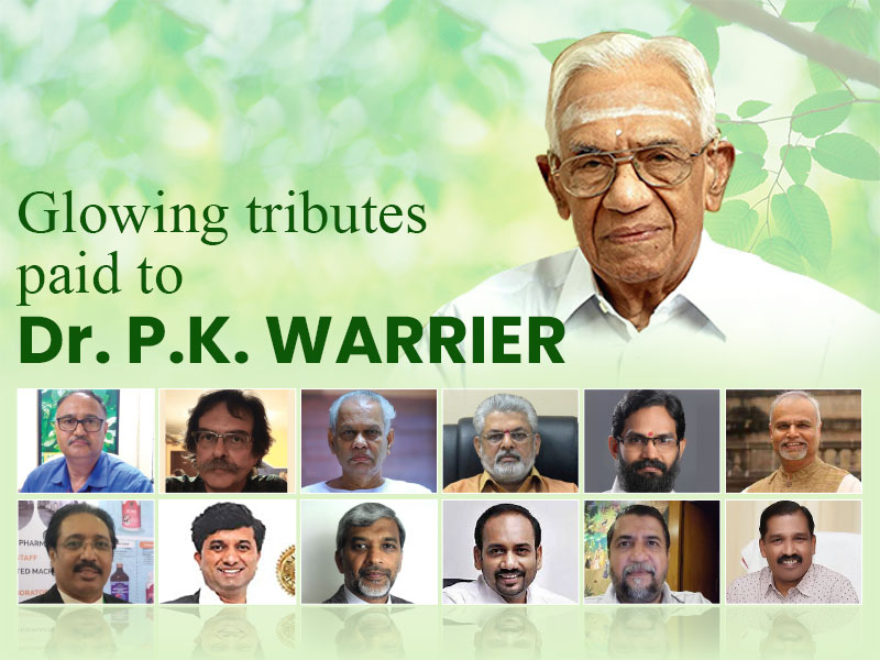 Glowing tributes paid to Dr. P.K. Warrier