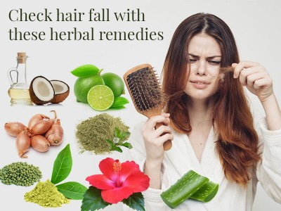 Check hair fall with these herbal remedies